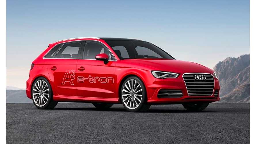 Audi Announces Early 2015 Launch of A3 Sportback E-tron Plug-In Hybrid in US