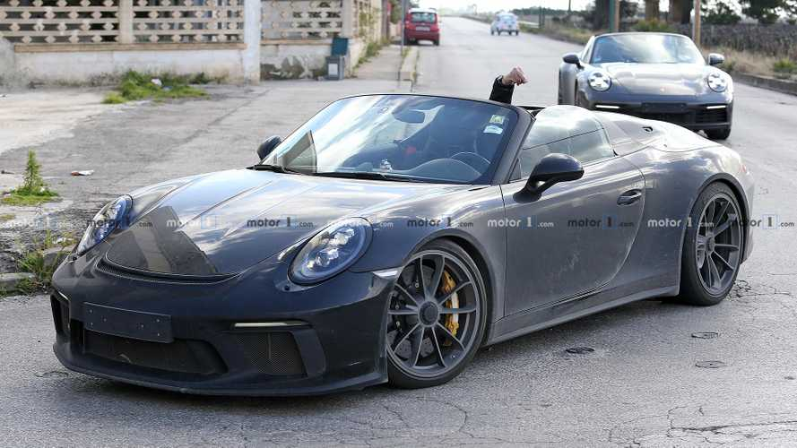 Porsche 911 Speedster spied with very unhappy driver