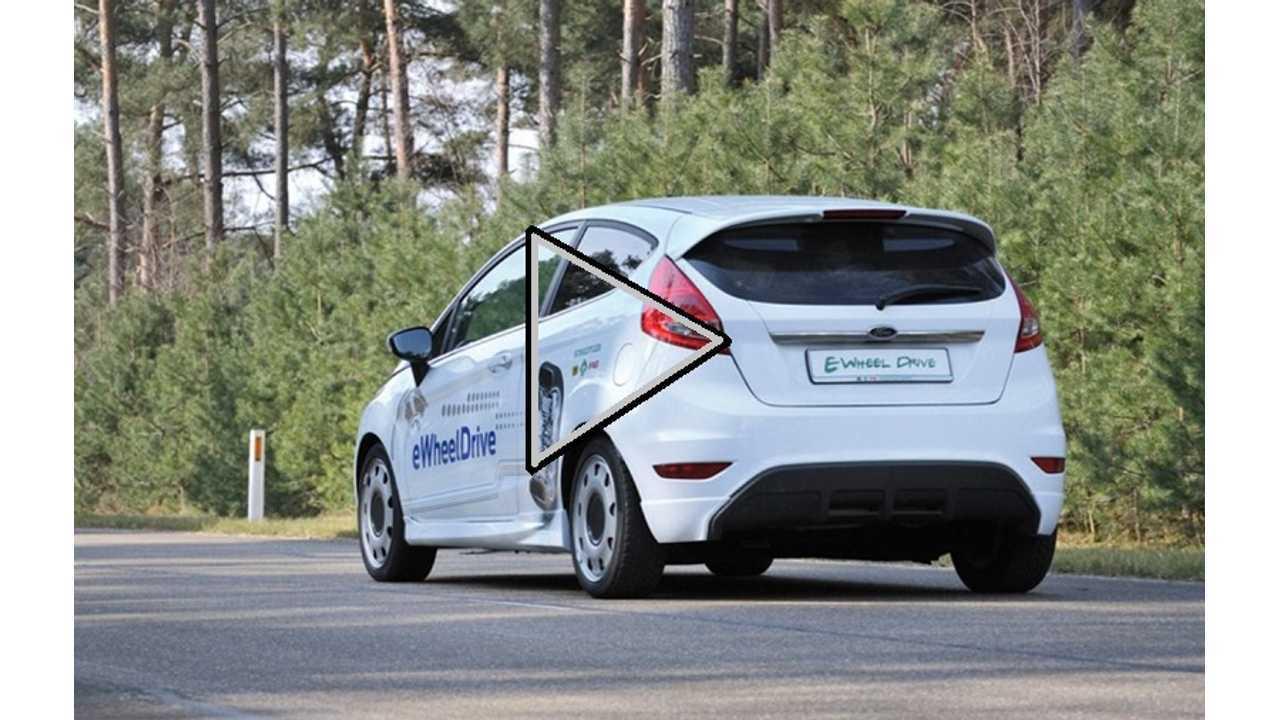 Video: Ford Fiesta Rear In-Wheel Drive Electric Vehicle