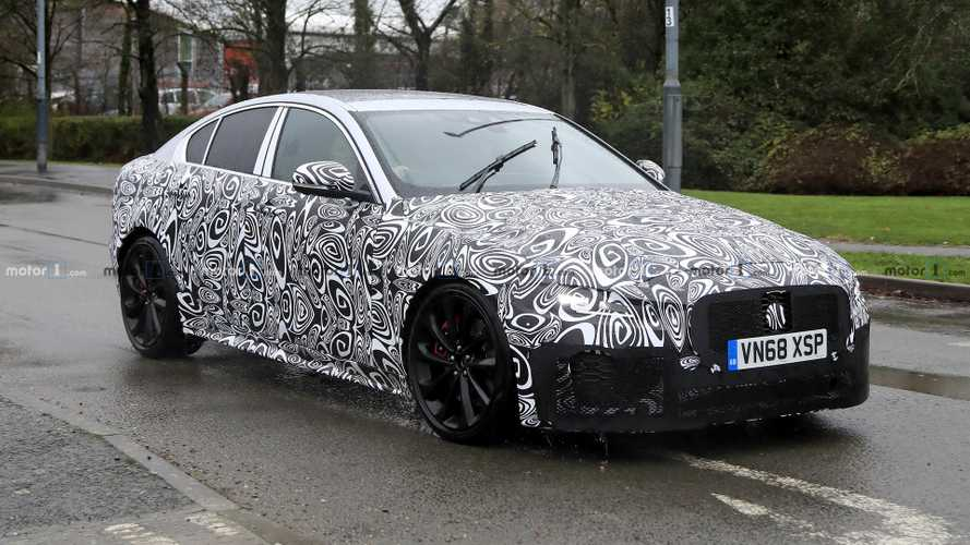 2020 Jaguar XE prototypes caught on a rainy day