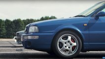 Audi RS2 vs BMW E30 M3 Drag Race