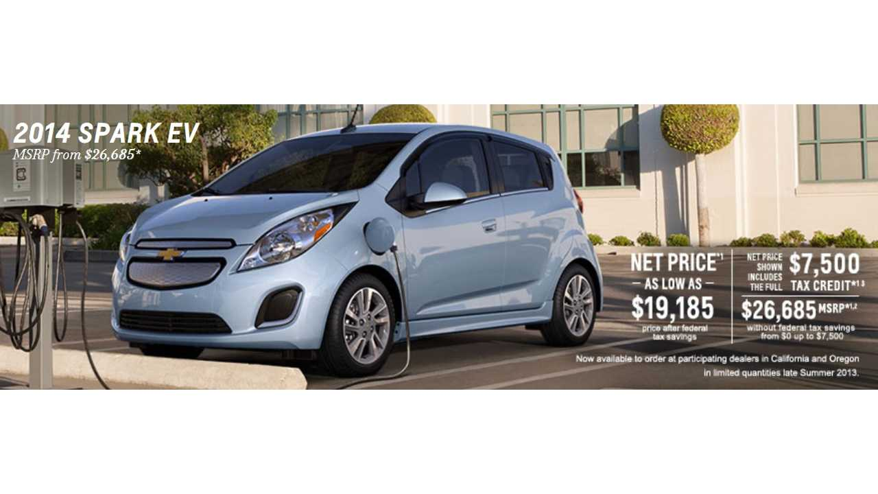Chevrolet Priced The Spark Ev As Least Expensive 4 Seat