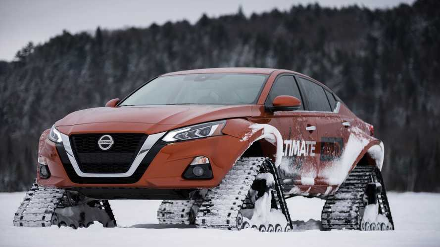 Nissan Altima-te AWD Proves Anything With Tracks Is Cool