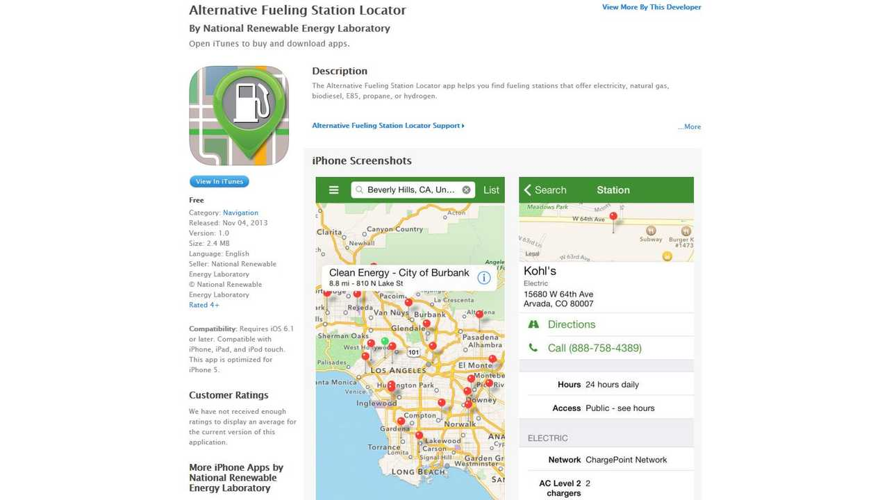 DoE Launches Alternative Fuel / Charging Station Locator App