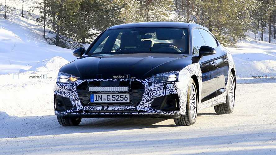 2020 Audi A5 Sportback facelift spy photos