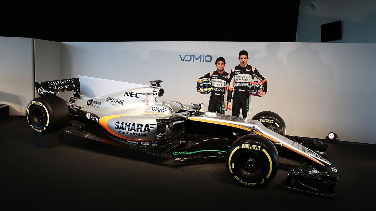 Esteban Ocon et Sergio Perez Force India