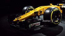 Renault Sport F1 Team RS17 ön kanat detayı