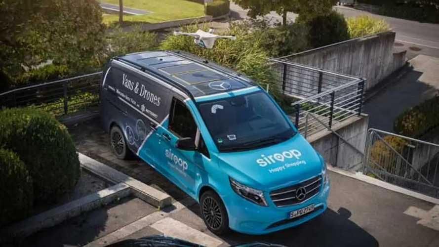 Mercedes-Benz Van e droni, parte la sperimentazione