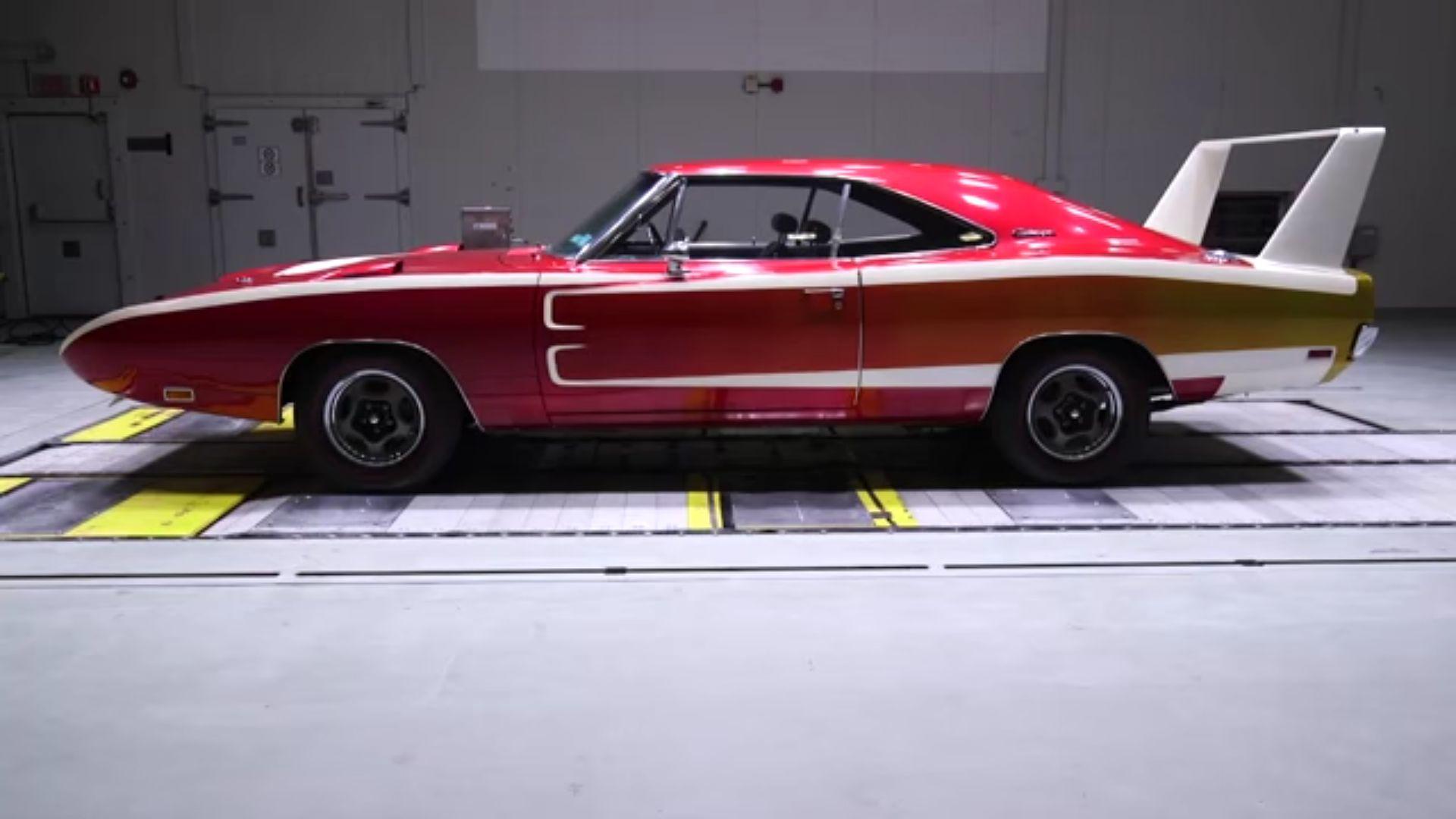 Wind Tunnel Battle 1969 Dodge Charger Daytona Vs 2016 Hellcat