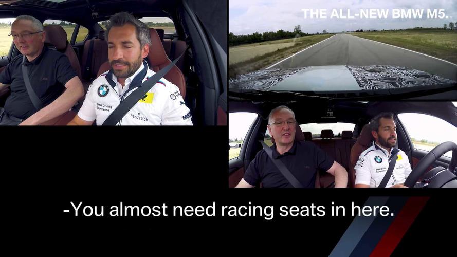 Timo Glock, BMW M5'in sürüş dinamiklerini zorluyor