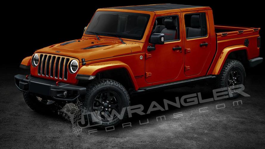 2018 Jeep Wrangler Pickup böyle mi olacak?
