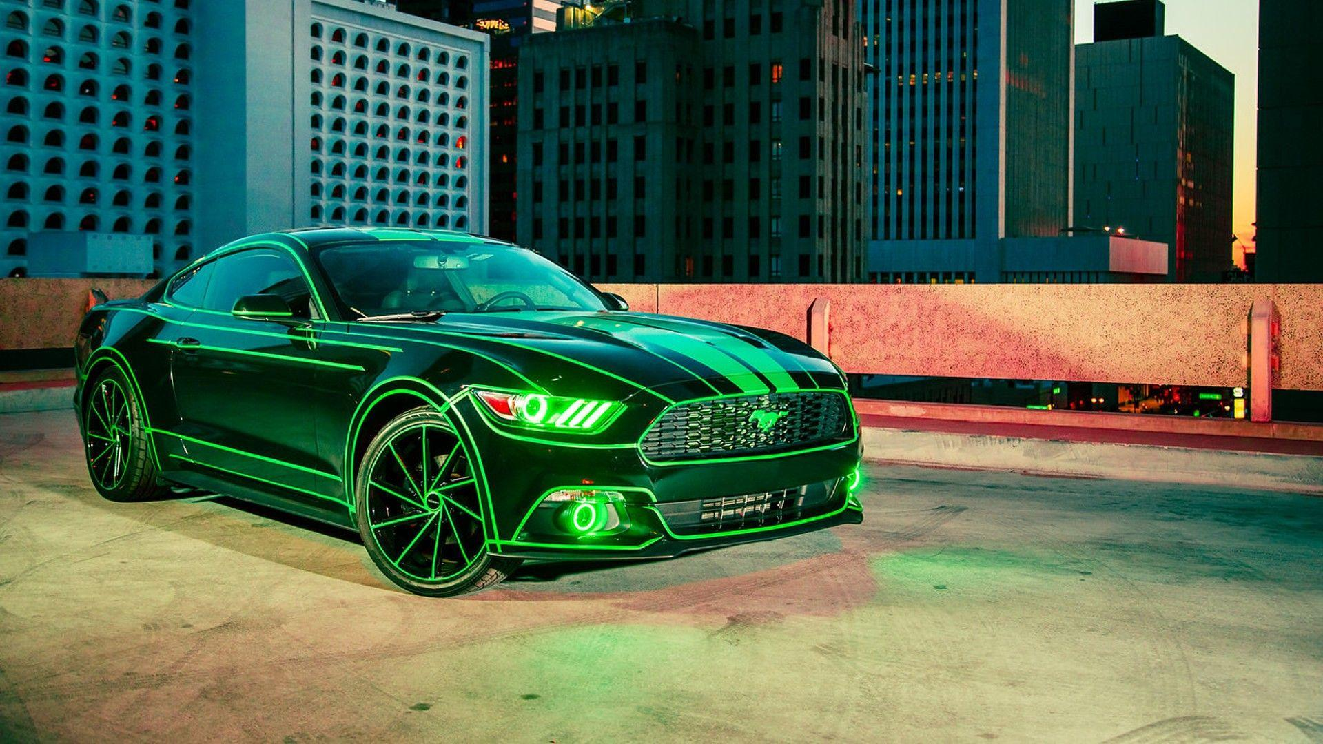 Sci fi fan gives tron treatment to his 2015 ford mustang