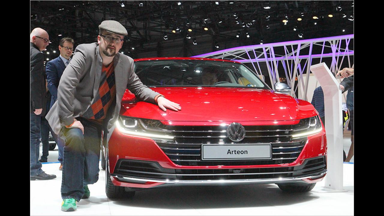 Genf 2017: Sitzprobe im neuen VW Arteon