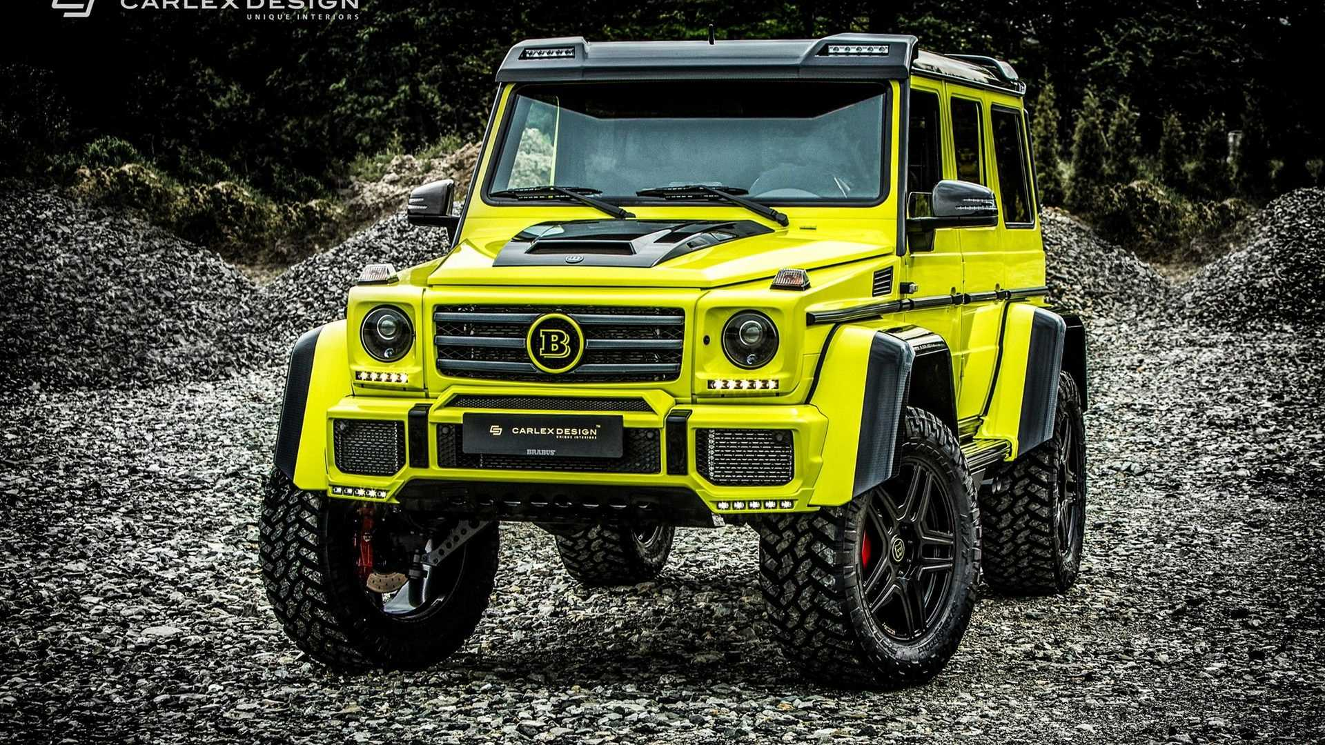 brutal brabus g500 4x4² is soft and sumptuous on the inside