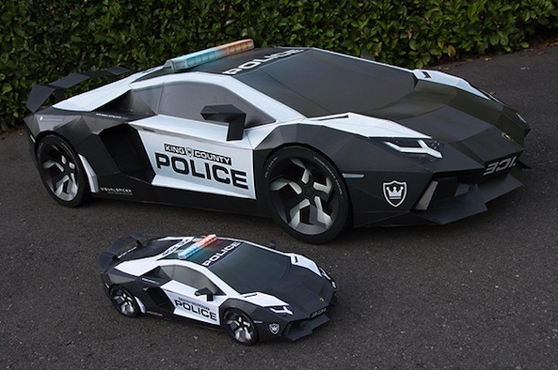 Artist Creates Paper Lamborghini Police Car Motor1 Com Photos