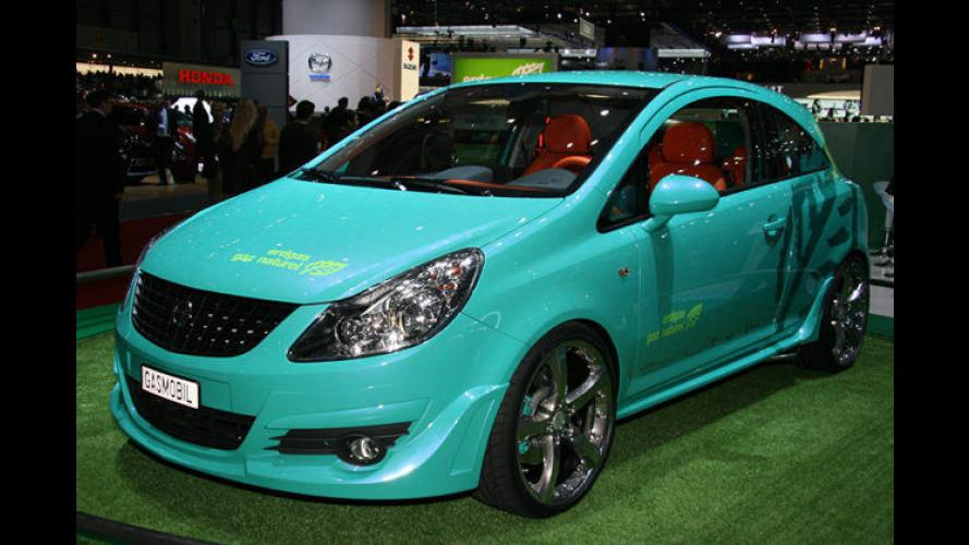 Kleiner Opel mit viel Gas: Der Opel Corsa D 1.6 CNG in Genf