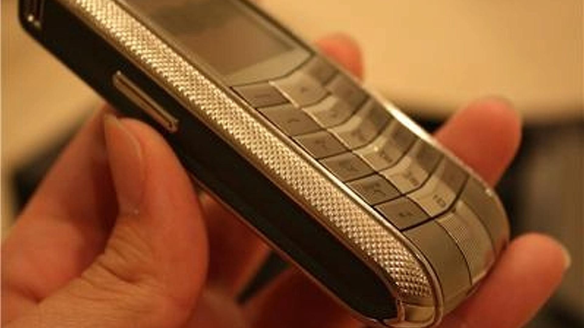 Auto flash: ebay find: vertu nurburgring racetrack titanium cell-phone.