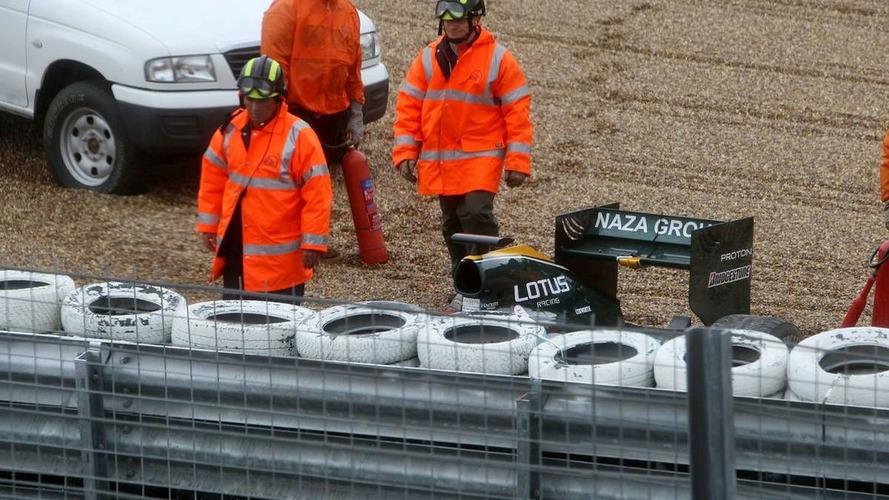 Kovalainen crash ends Lotus' Thursday test