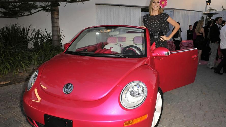 Heidi Klum & Volkswagen Present Customised Pink Barbie New Beetle Convertible