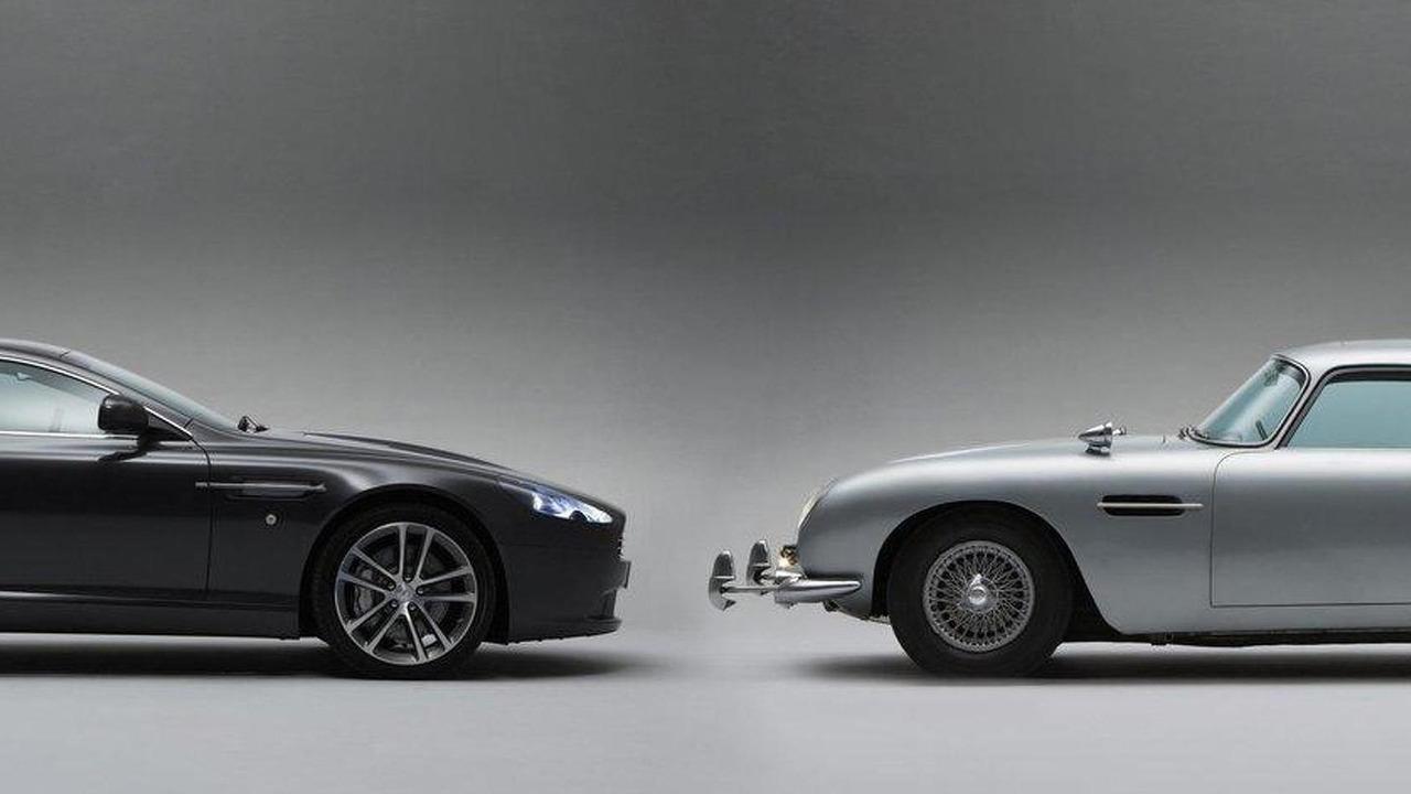 James Bond Real Film Car, 1964 Aston Martin DB5 with Quantum Silver DB9 28.10.2010