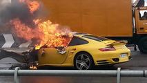 Porsche 997 Turbo accident