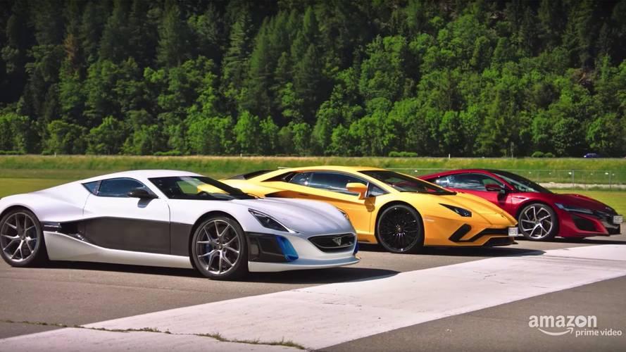 VIDÉO - Rimac, Aventador S et NSX, qui gagne ?
