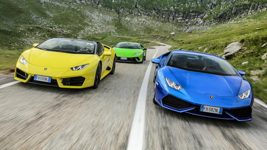 Sei Lamborghini nella follia dei tornanti [VIDEO]