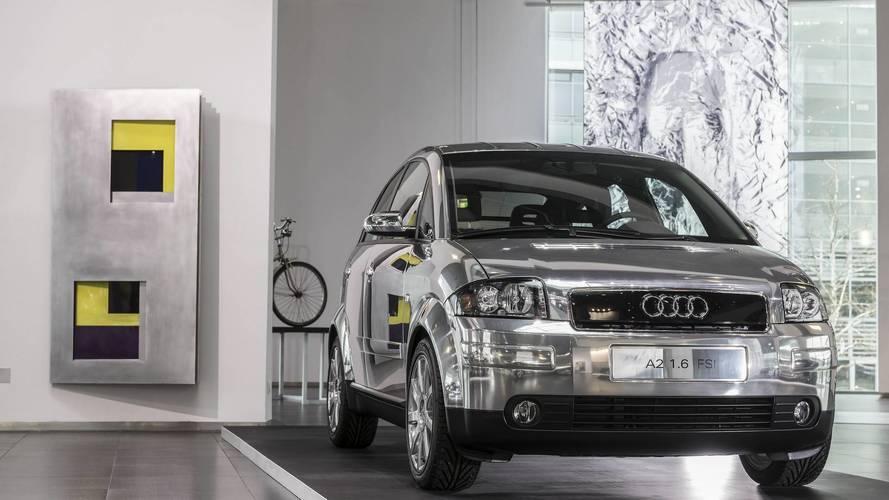 Modelos de Audi en aluminio expuestos en el museo de Ingolstadt