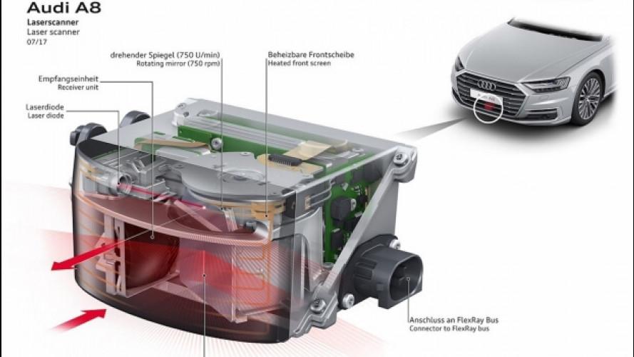 Audi A8, schiacci un pulsante e parcheggia da sola