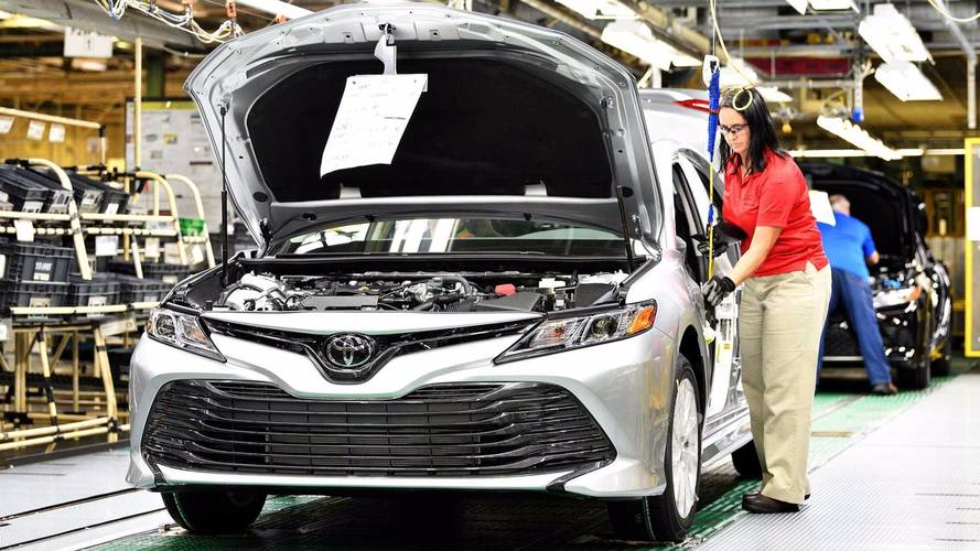 Toyota Camry On Assembly Line