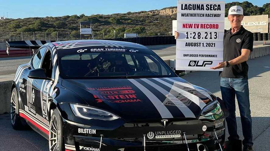 Tesla Model S Plaid record a Laguna Seca