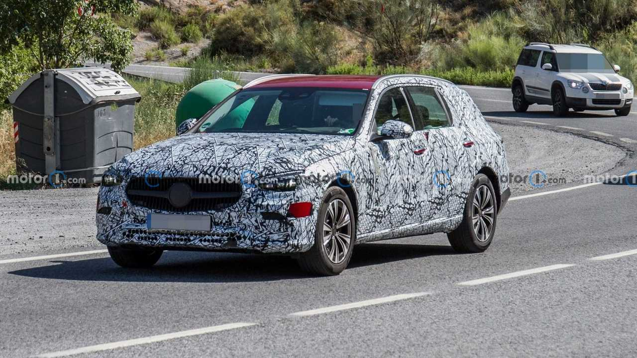 The 2022 Mercedes C-Class All-Terrain wagon should look like this prototype recently caught testing on the street.