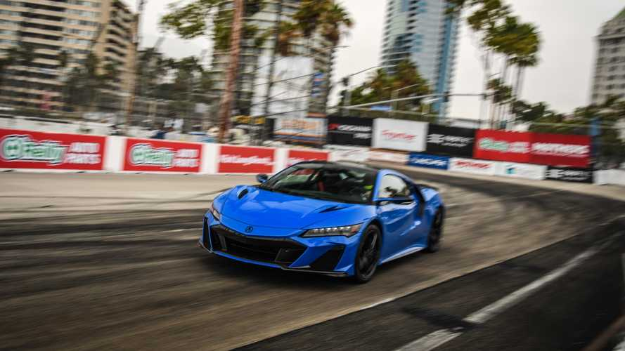 2022 Acura NSX Type S breaks production car lap record at Acura Grand Prix of Long Beach track