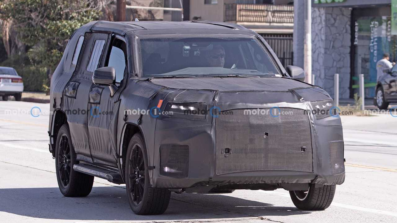 A prototype for the next-generation Lexus LX SUV caught on camera.
