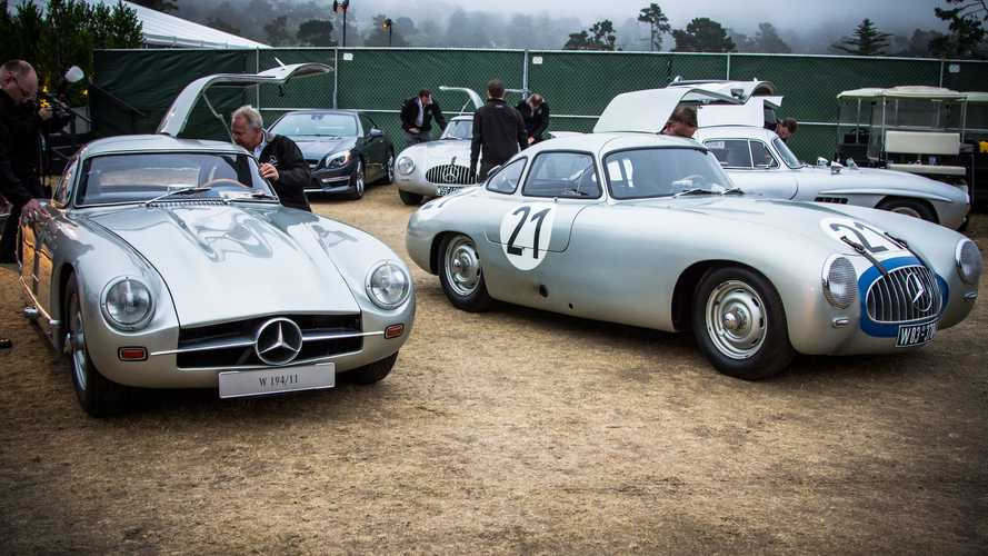 Le storiche Mercedes SL in mostra a Pebble Beach