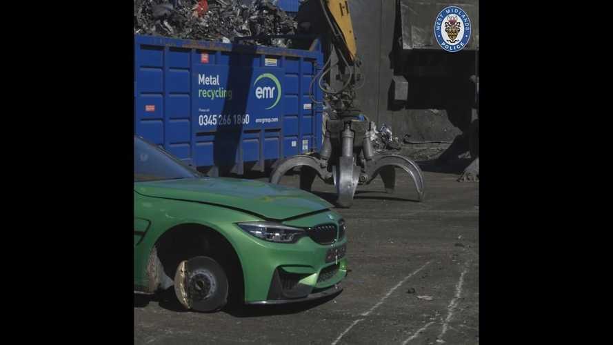 La policía destruye un BMW M3 y te contamos el motivo
