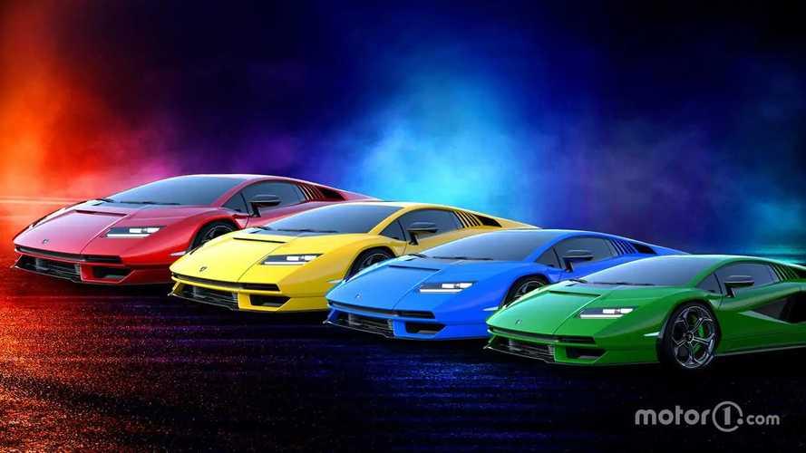 I colori per sognare la nuova Lamborghini Countach