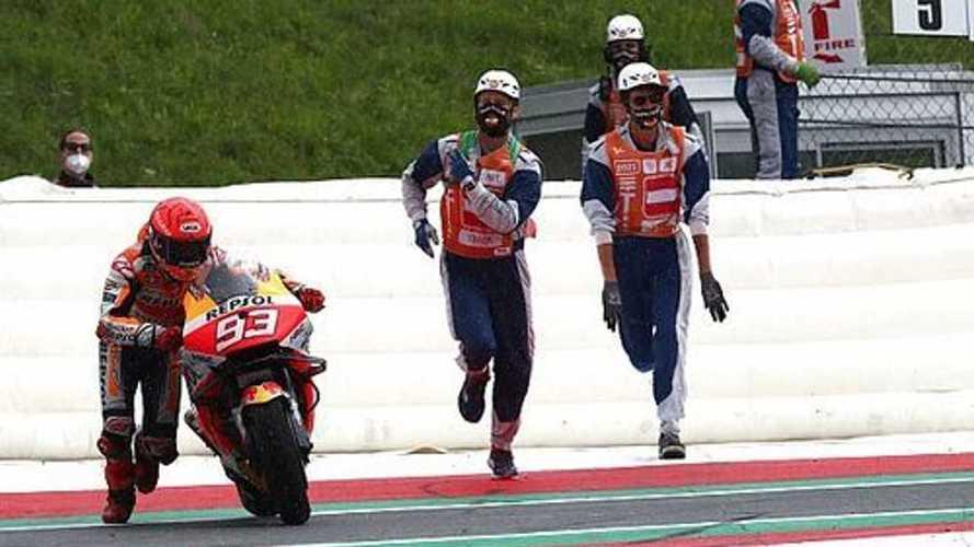 El número de caídas de Marc Márquez y Honda en 2021