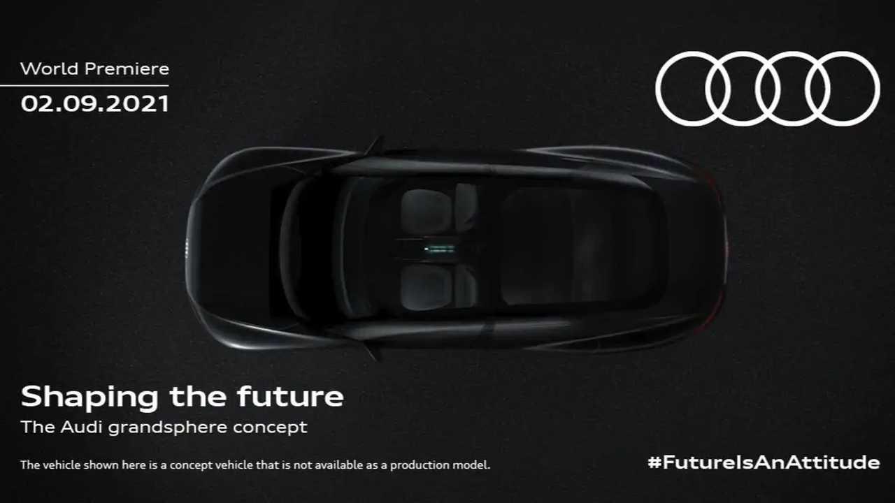 Teaser image for the Audi Grandsphere concept.