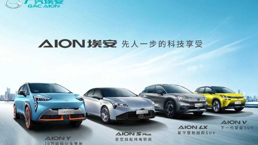GAC Aion реализовал рекордное количество электромобилей