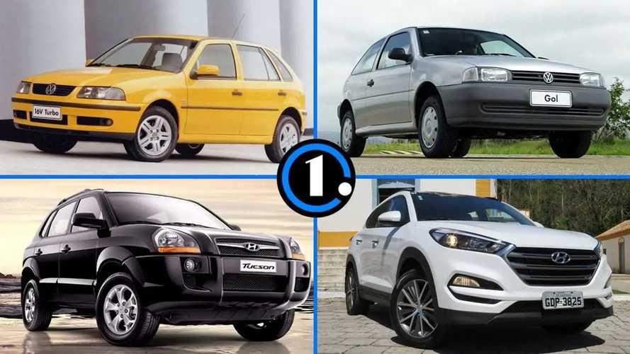 Veja as gerações de carros que convivem e conviveram no Brasil