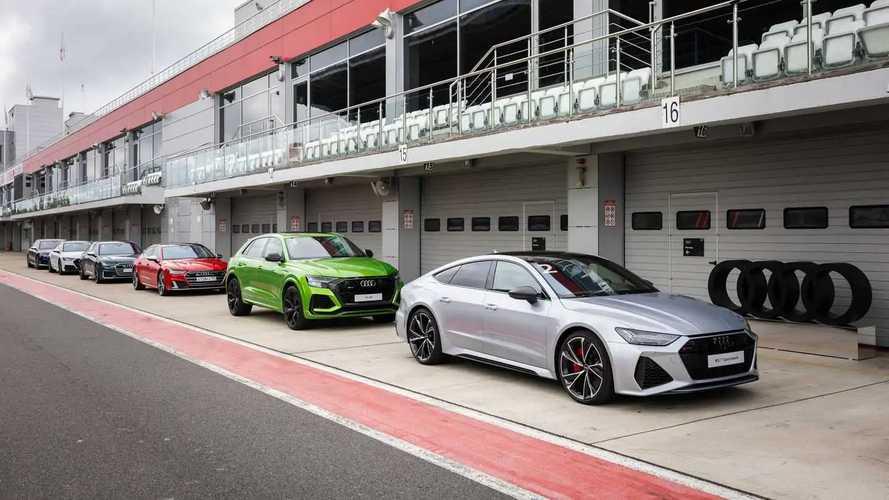 Audi RS Q8, RS 6 Avant и RS 7 Sportback на Moscow Raceway