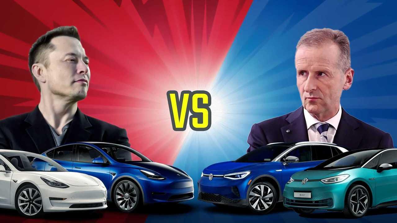Volkswagen VS Tesla: chi venderà più auto elettriche