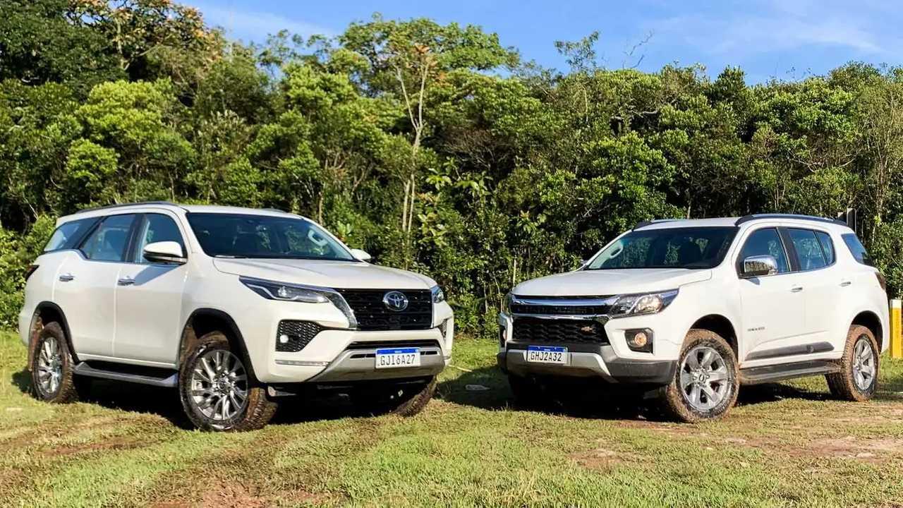 Comparativo: Chevrolet Trailblazer Premier vs. Toyota SW4 SRX