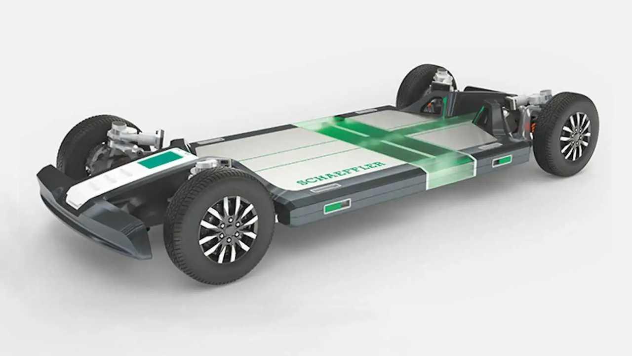 Schaeffler Rolling Chassis: Skateboard-Plattform für Elektrofahrzeuge