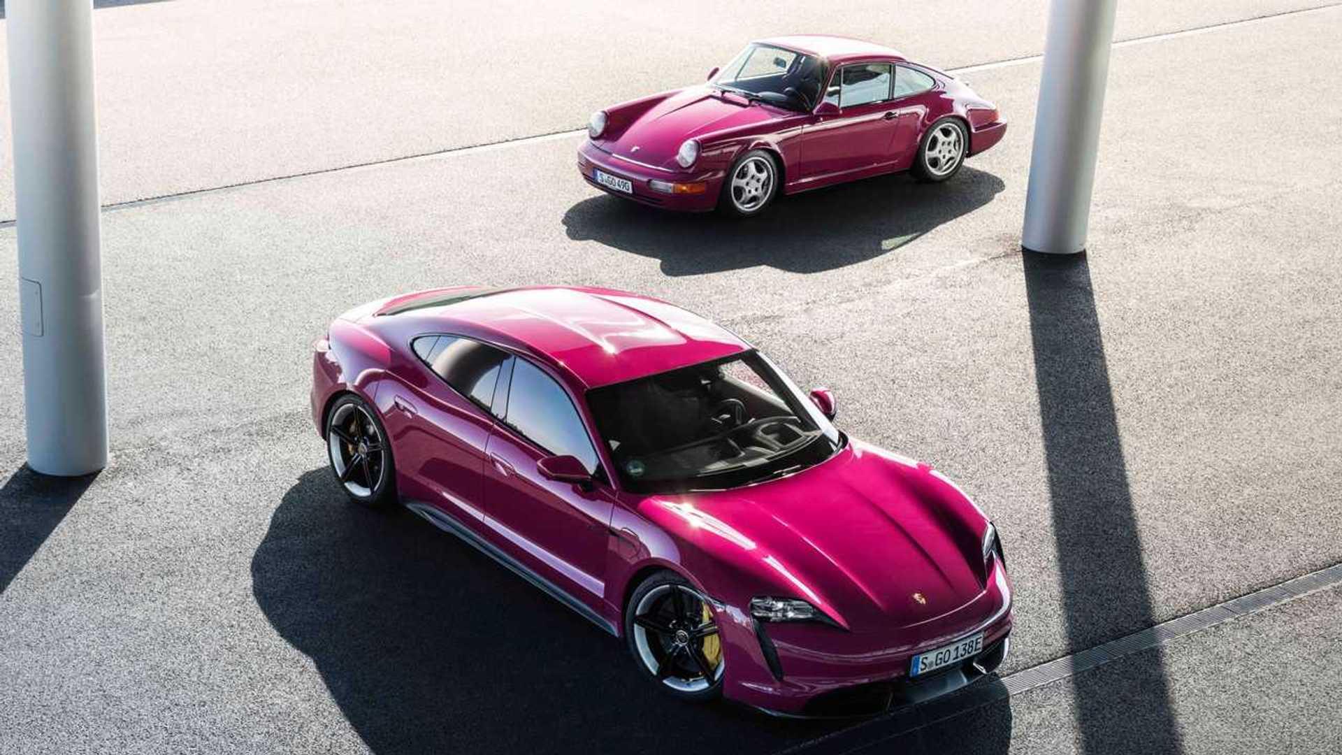2022 Porsche Taycan Turbo S with 911