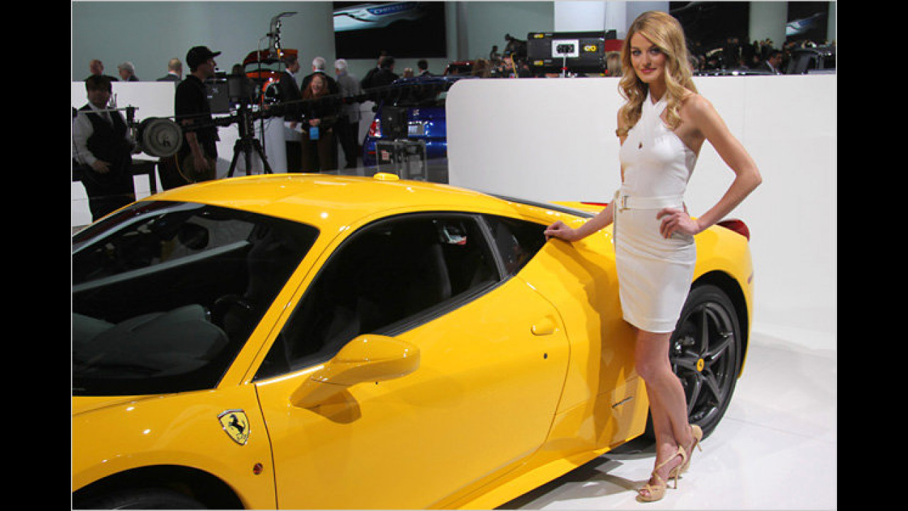 Ein Ferrari in Gelb, ist das die neue Mode?