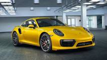 Porsche 911 Turbo Saffron Yellow Metallic