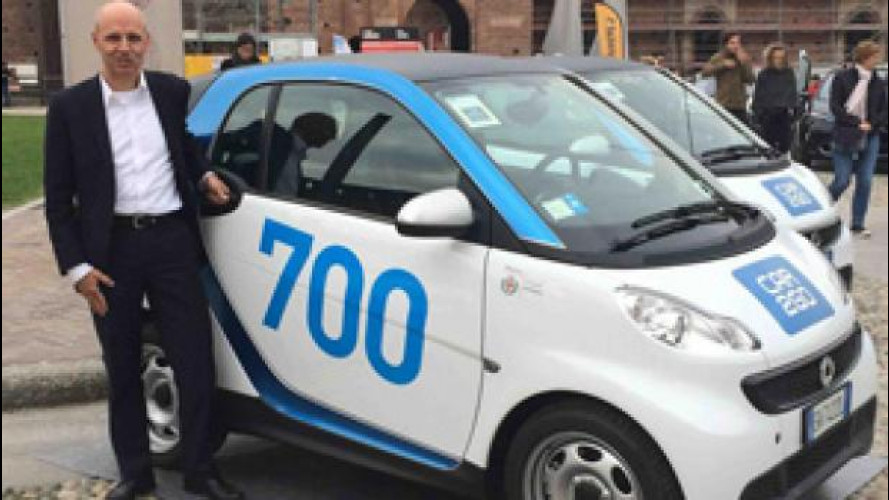 Car sharing, a Milano 100 smart in più per car2go