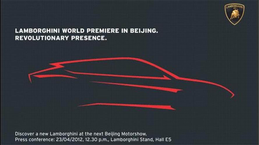 SUV Lamborghini, ecco la silhouette ufficiale